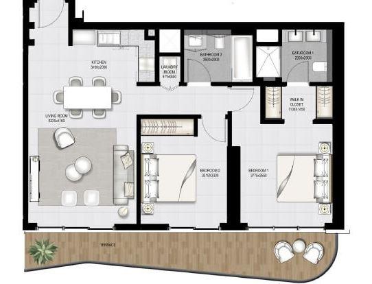 emaar south beach apartment 2 bhk 1148sqft 20204518174508