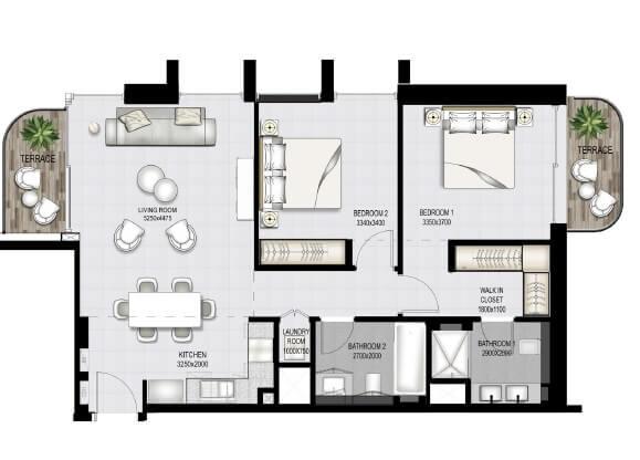 emaar south beach apartment 2bhk 1104sqft51