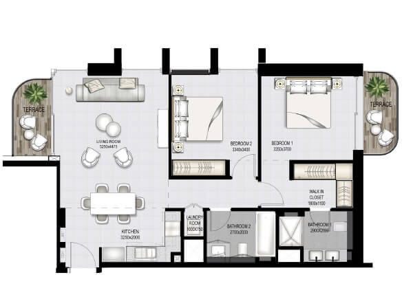 emaar south beach apartment 2bhk 1106sqft61