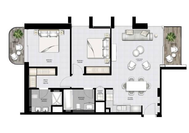 emaar south beach apartment 2bhk 1132sqft91