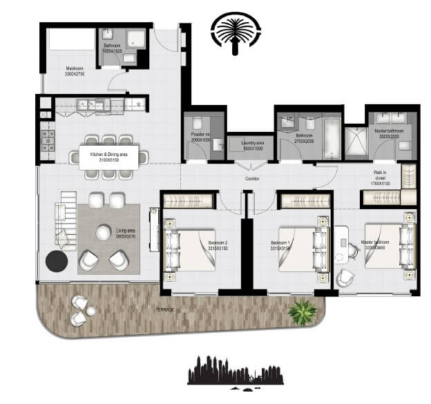 emaar south beach apartment 3bhk 1762sqft141