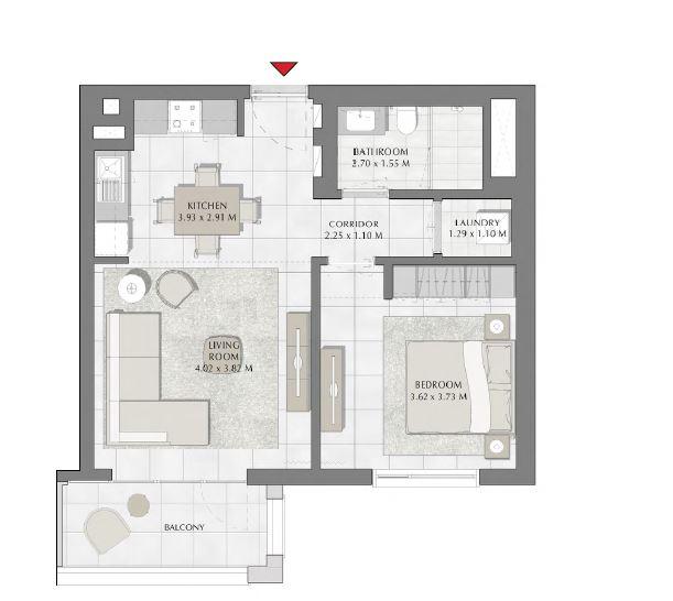 emaar summer apartment 1bhk 672sqft41