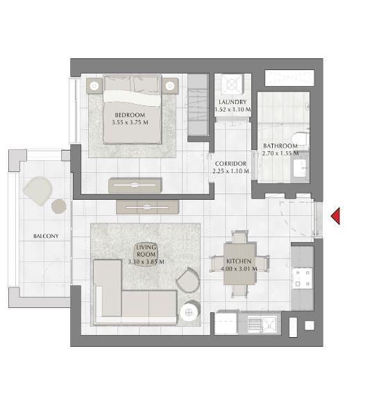 emaar summer apartment 1bhk 678sqft101
