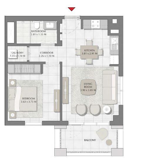 emaar summer apartment 1bhk 681sqft111