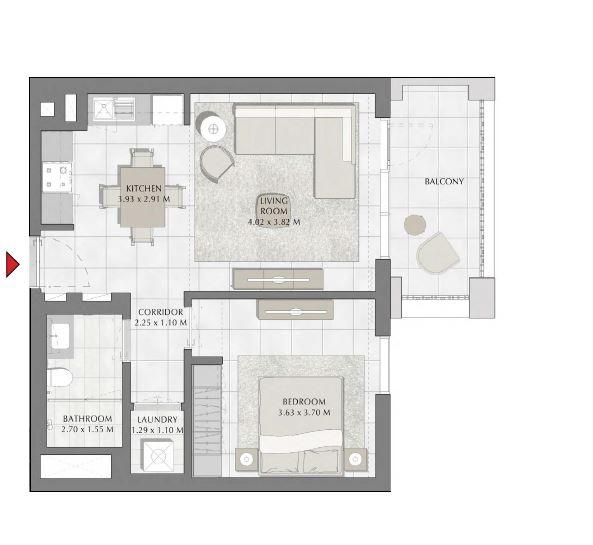 emaar summer apartment 1bhk 689sqft151