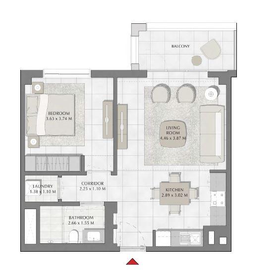 emaar summer apartment 1bhk 716sqft241