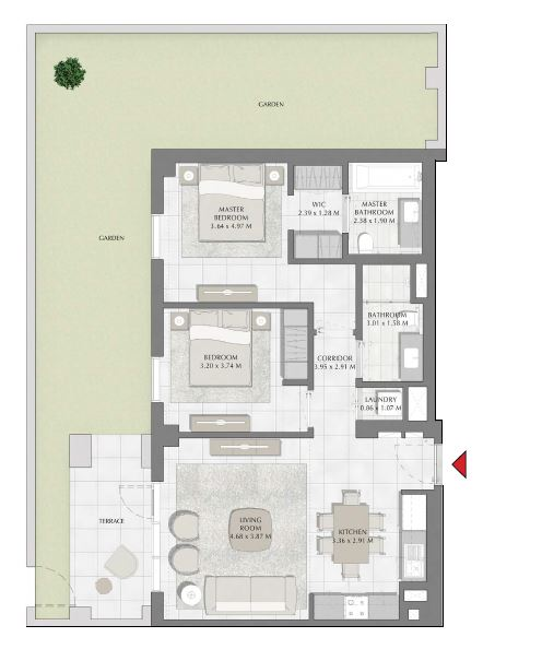 emaar summer apartment 2bhk 1684sqft621