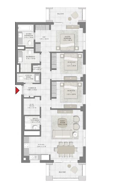 emaar summer apartment 3bhk 1491sqft651