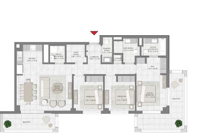 emaar summer apartment 3bhk 1636sqft671
