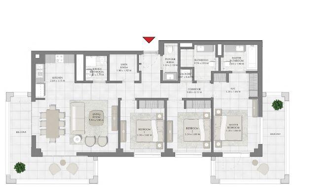 emaar summer apartment 3bhk 1734sqft721
