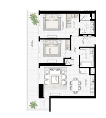 emaar sunrise bay apartment 2 bhk 1139sqft 20204318144354