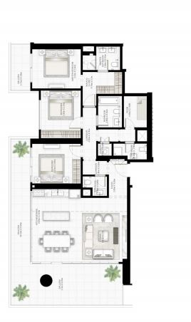 emaar sunrise bay apartment 3 bhk 2093sqft 20204118144137
