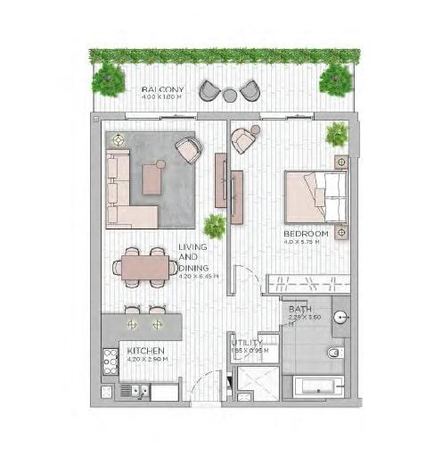 meraas central park apartment 1bhk 1020sqft801