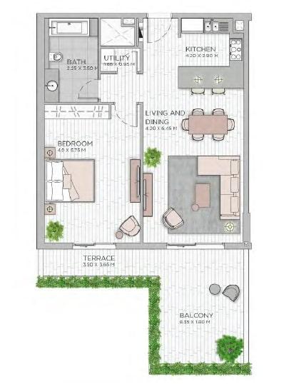 meraas central park apartment 1bhk 1118sqft801