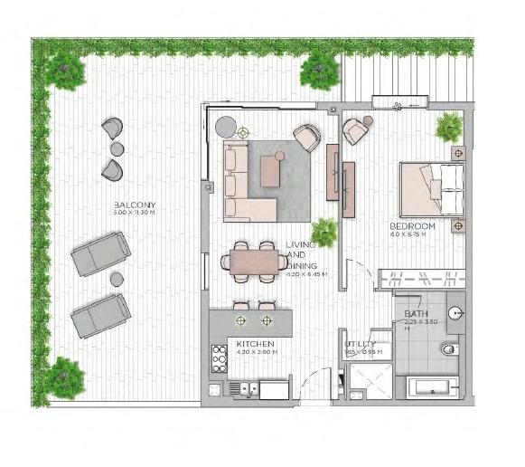 meraas central park apartment 1bhk 1588sqft801