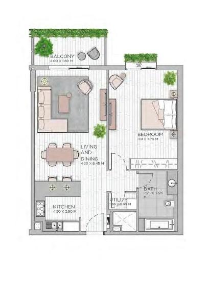 meraas central park apartment 1bhk 948sqft801
