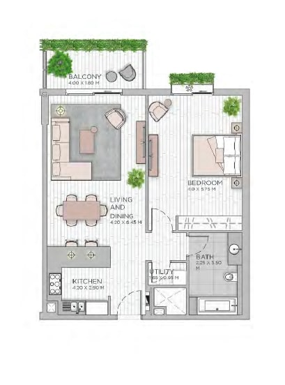 meraas central park apartment 1bhk 953sqft801