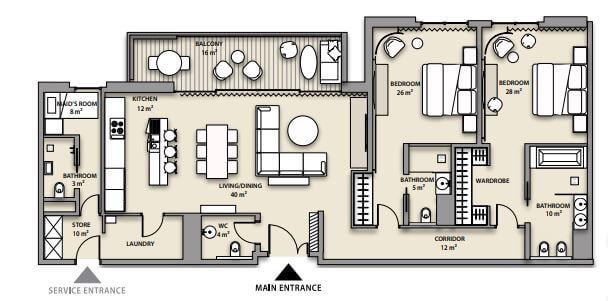 nikki beach residences apartment 2bhk 2859sqft81