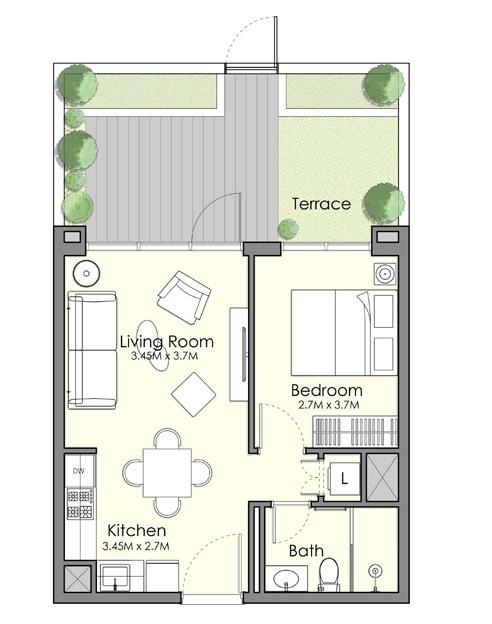 nshama town square uan apartment 1bhk 714sqft141