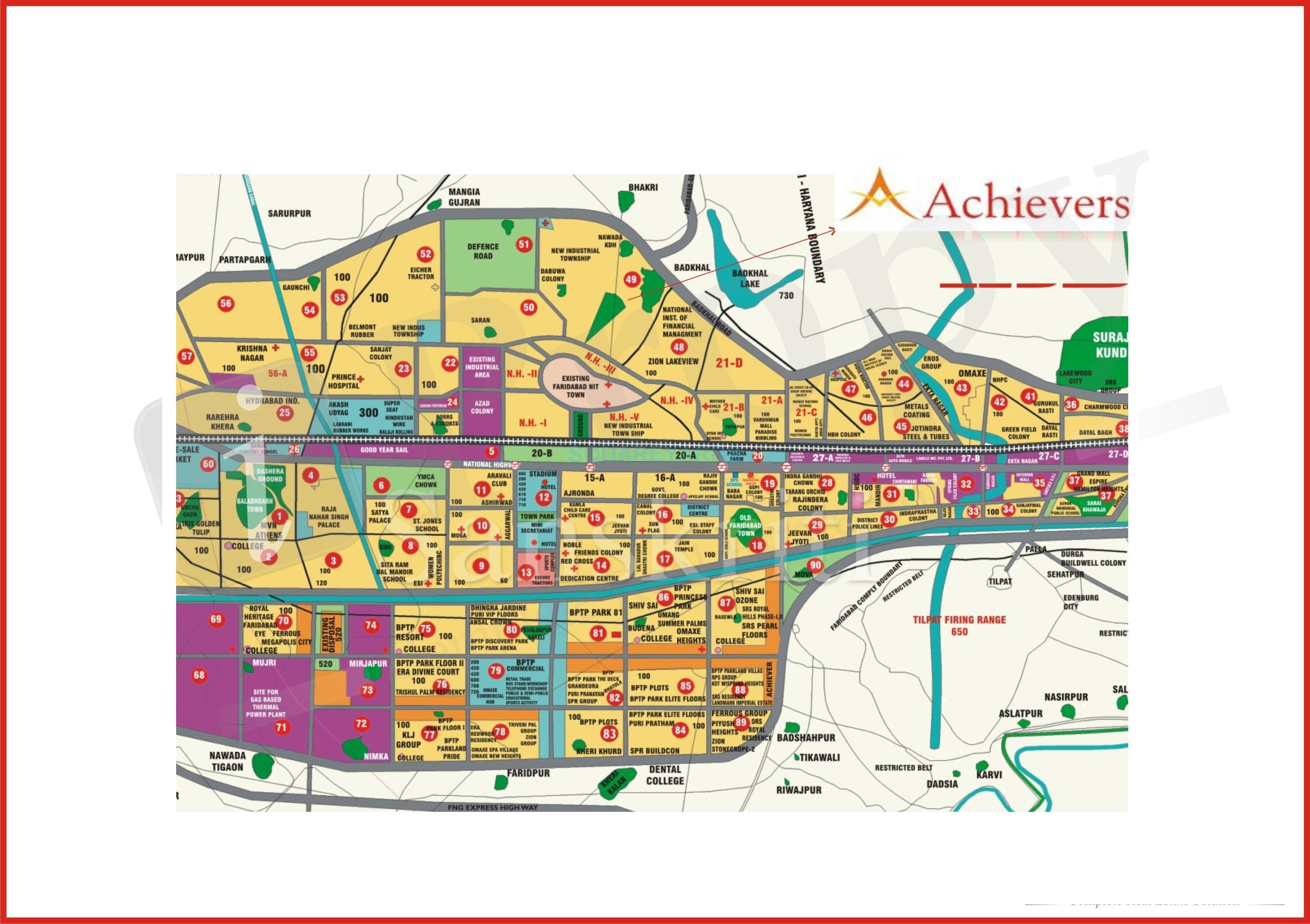 achievers builders status enclave location image1
