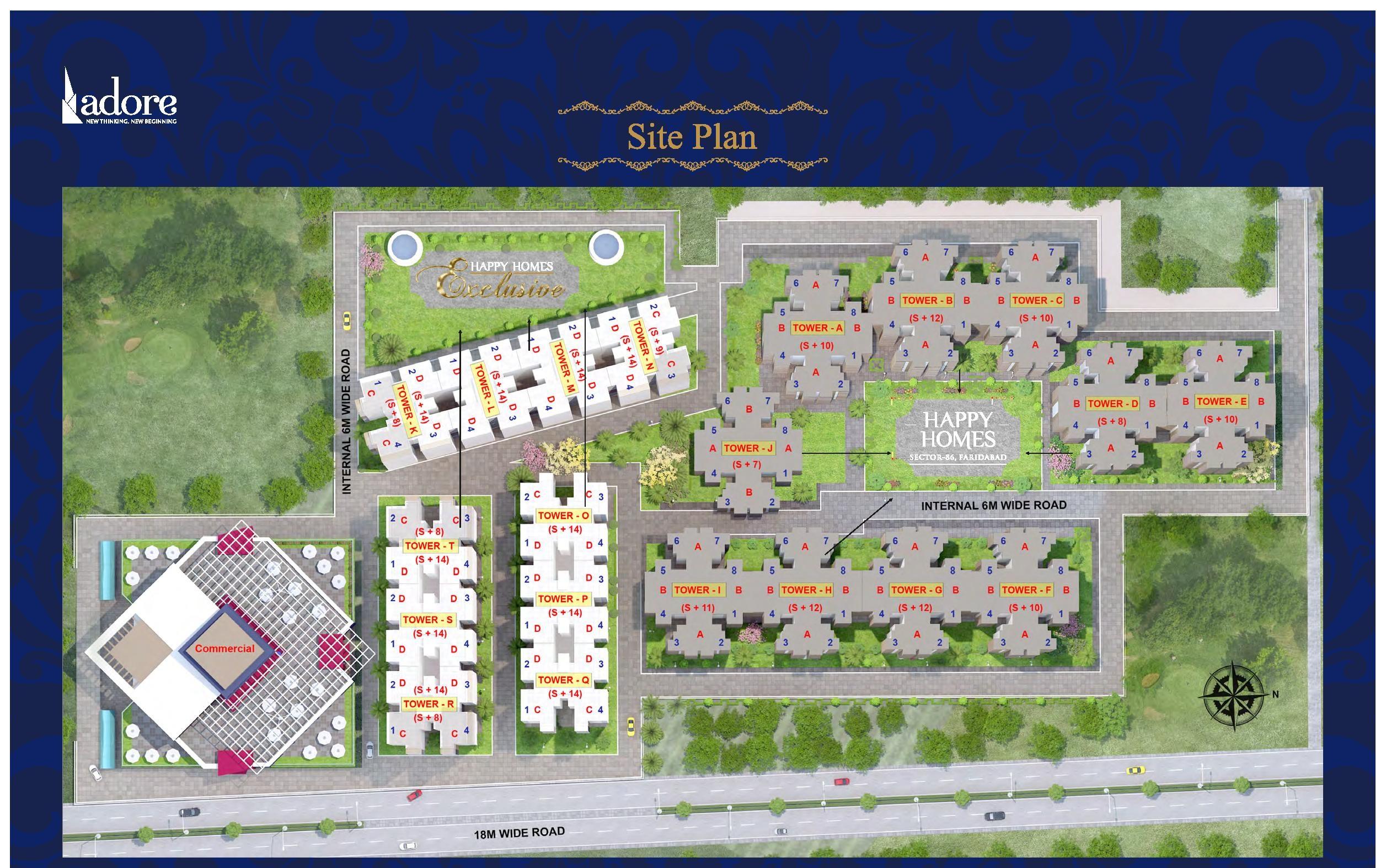 adore happy homes exclusive master plan image4