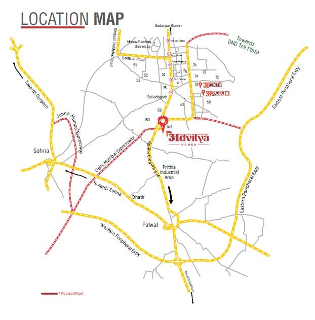 advitya homes project location image1