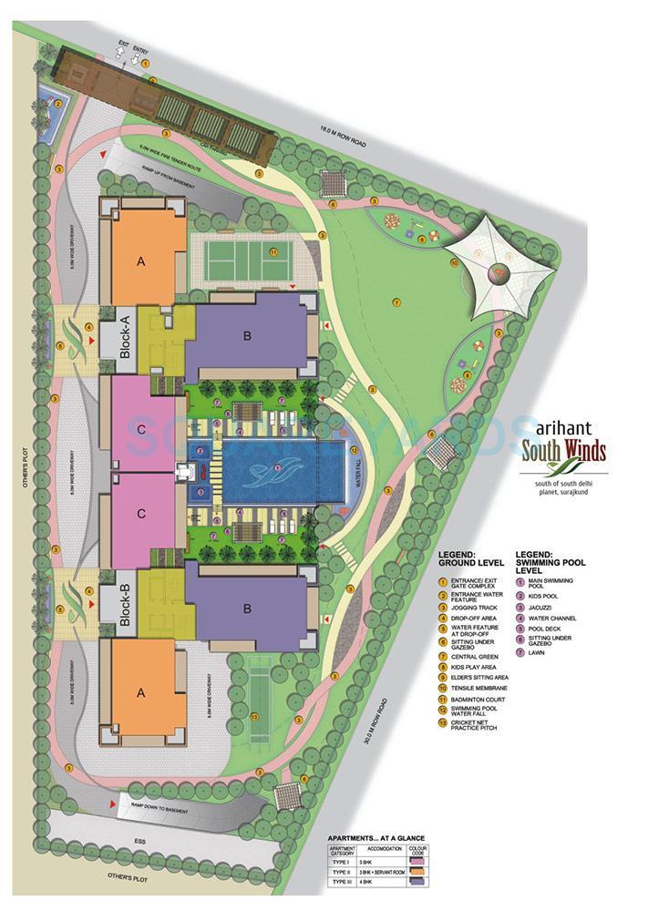 arihant south winds master plan image1