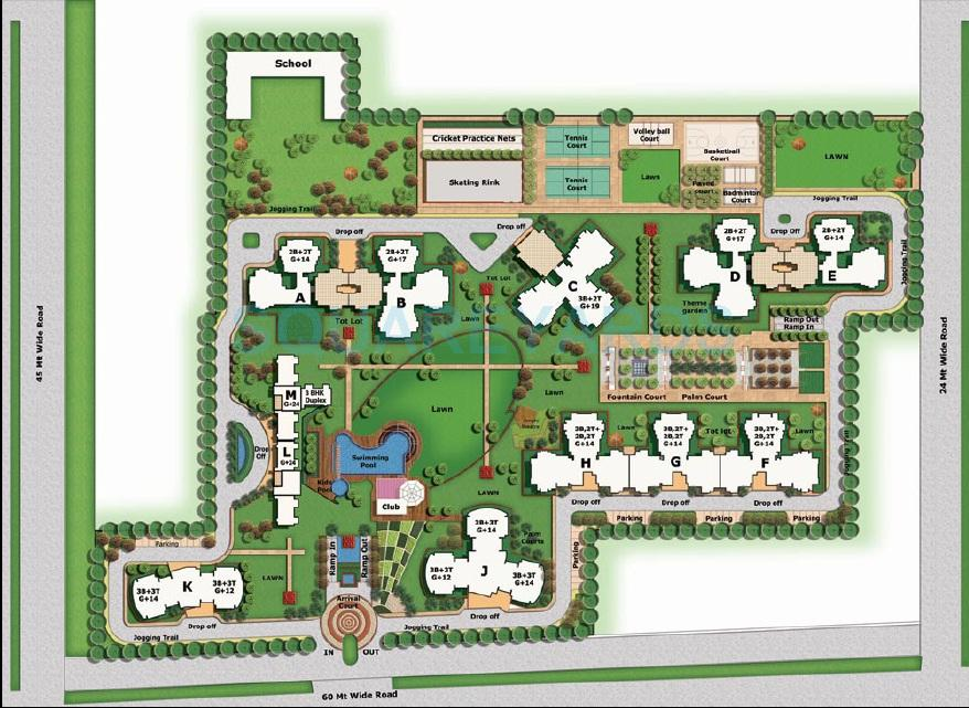 bptp discovery park master plan image1