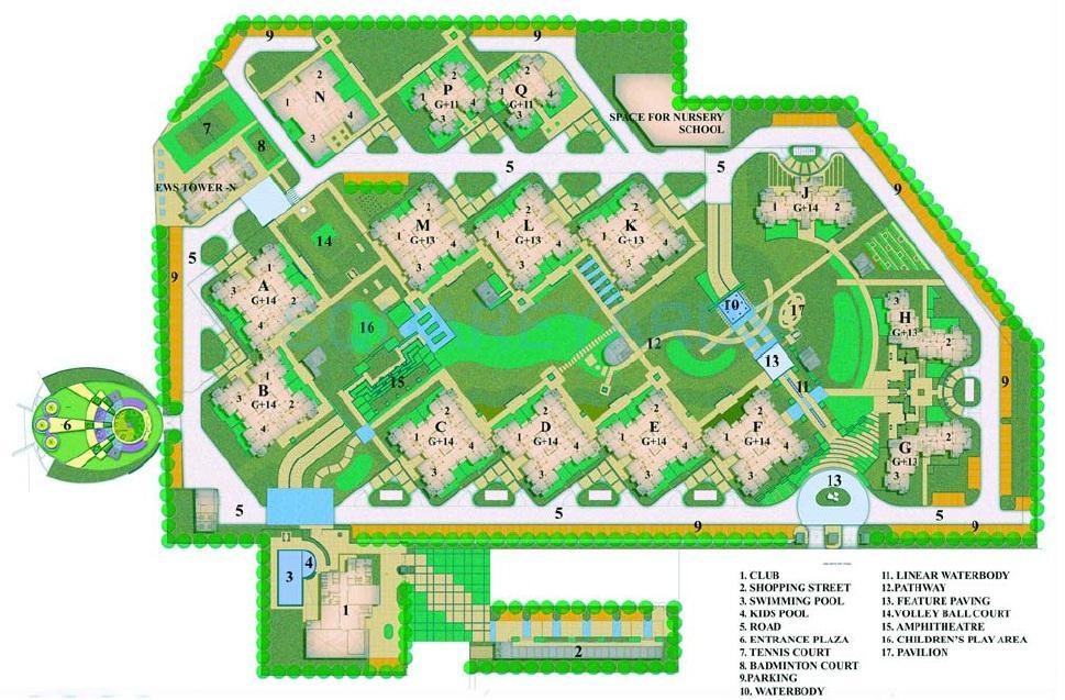 bptp grandeura master plan image1