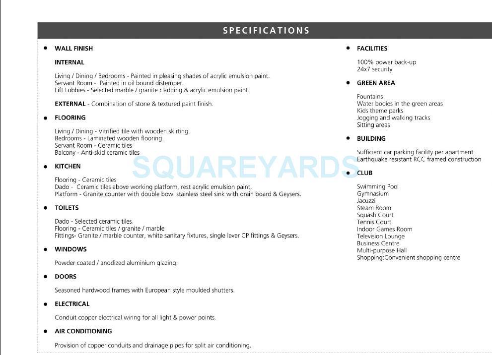 bptp grandeura specification1