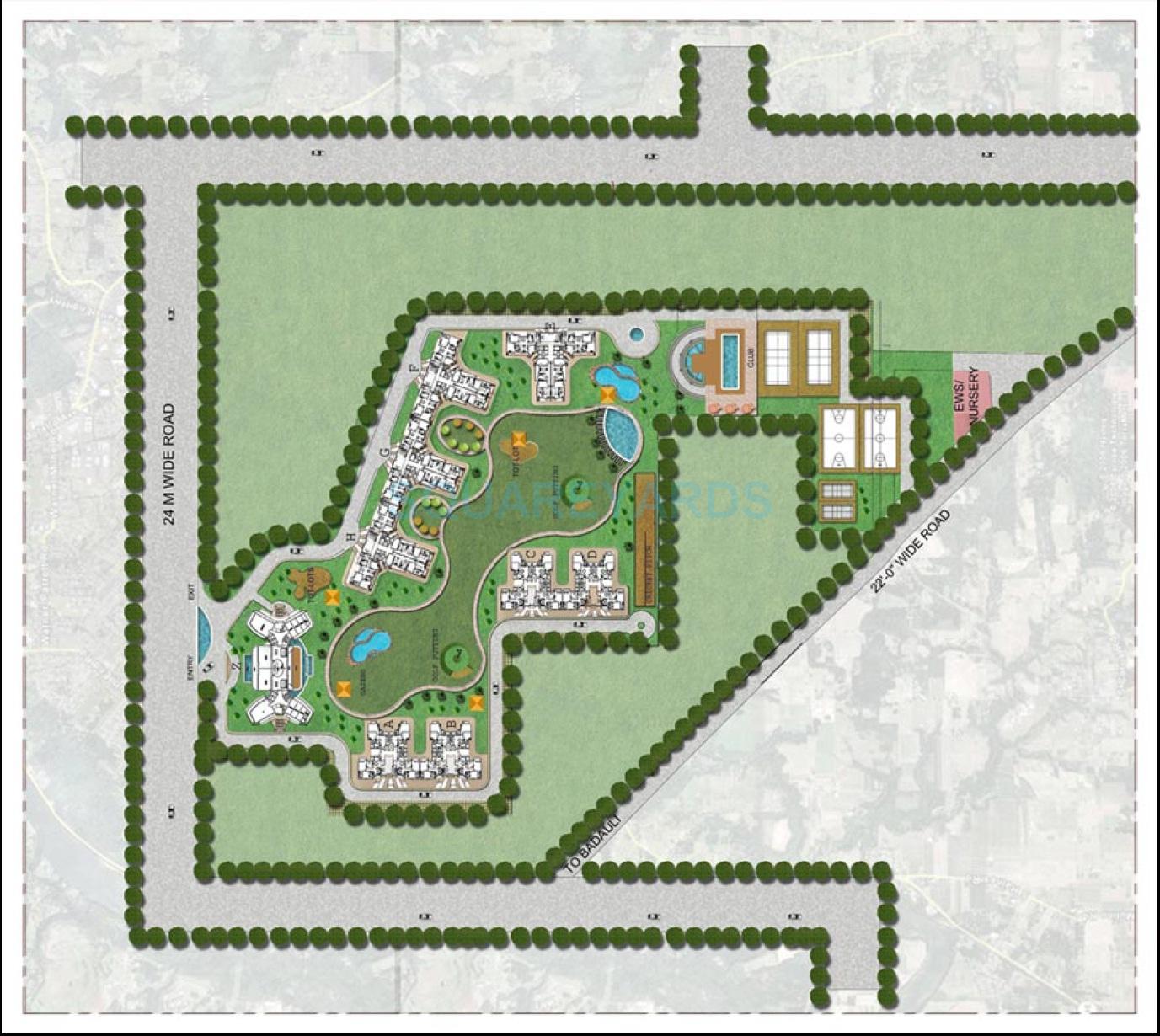 bptp park arena master plan image1