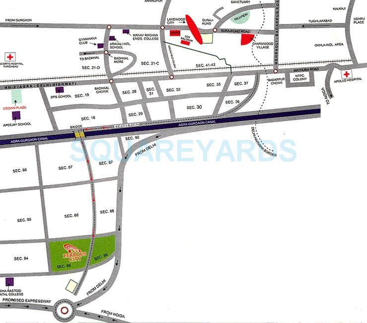 ferrous city ii studio apartment location image1