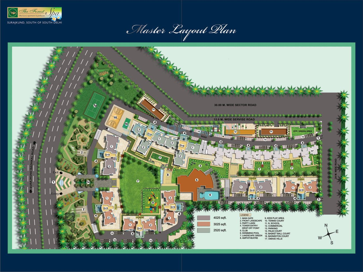 omaxe the forest spa master plan image1