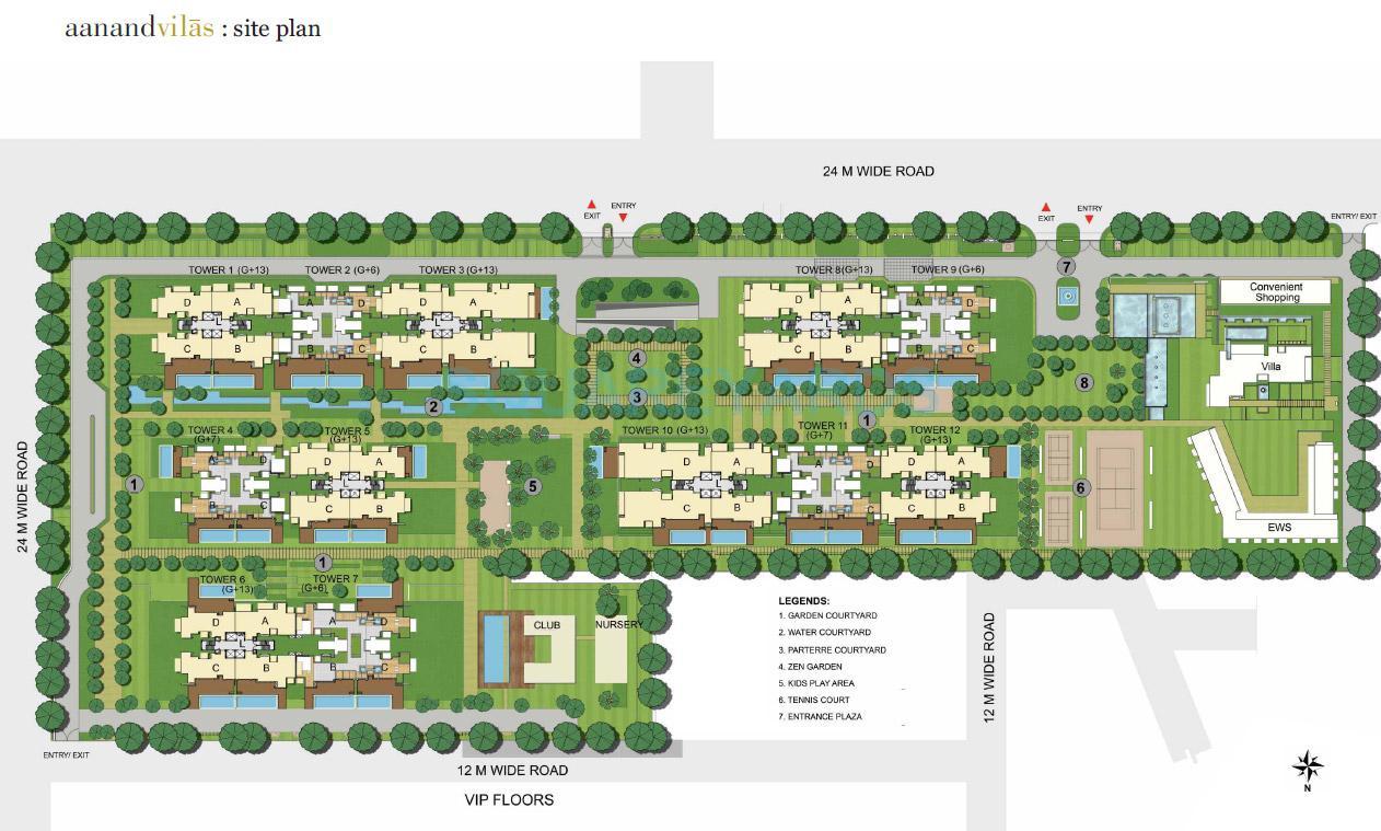 puri aanandvilas master plan image1