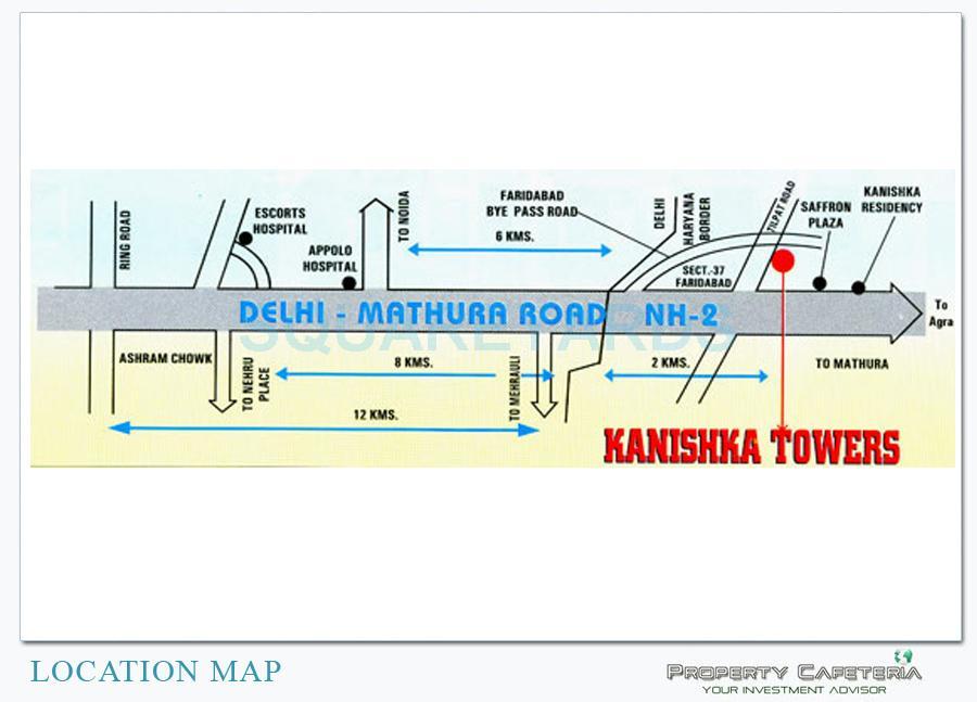 saffron kanishka tower location image1