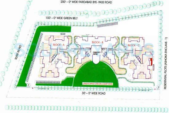 saffron kanishka tower master plan image1