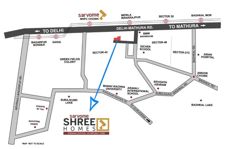 sarvome shree homes location image2