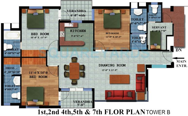 achievers builders status enclave apartment 3bhk 1726sqft 1