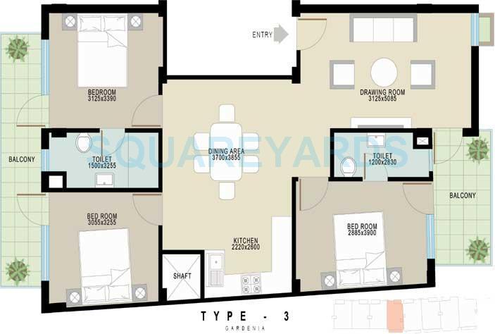 achievers gardenia floors independent floor 3bhk 1350sqft 1