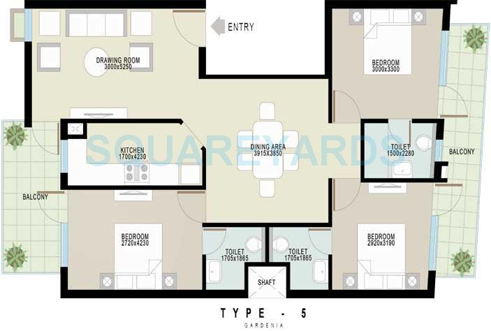 achievers gardenia floors independent floor 3bhk 1400sqft 1