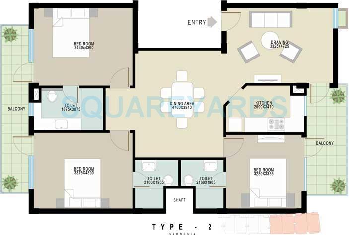 achievers gardenia floors independent floor 3bhk 1500sqft 1