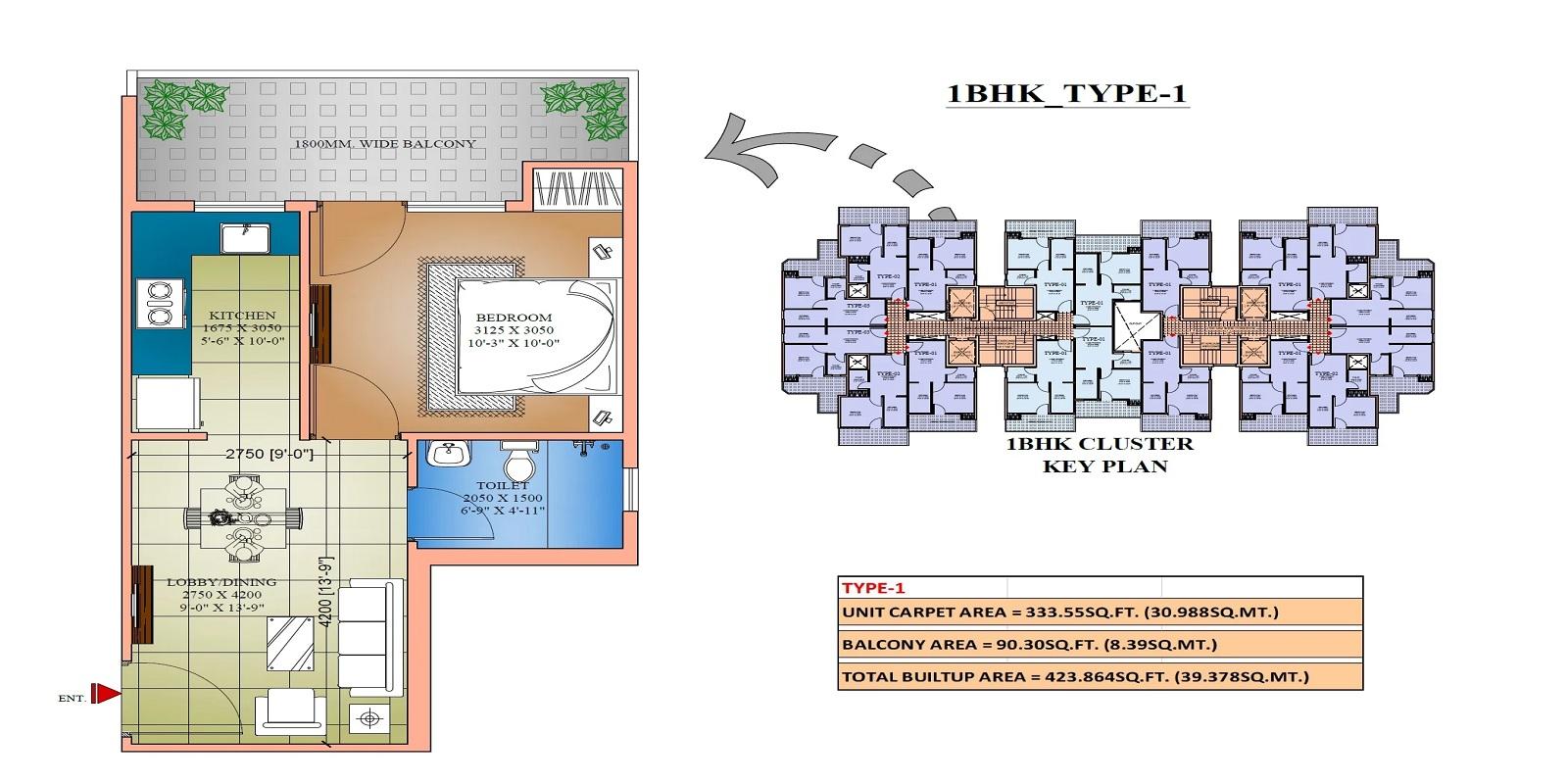 amolik sankalp apartment 1 bhk 424sqft 20204205114211