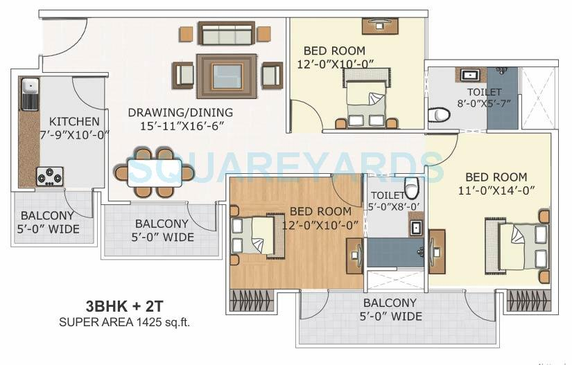 blue solitaire apartment 3bhk 1425sqft 1