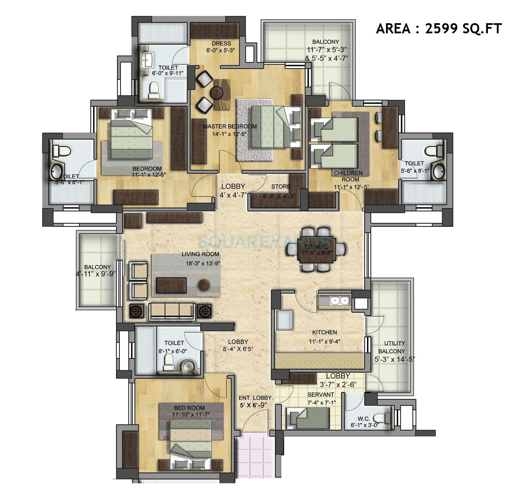 Bptp park grandeura in sector 82 faridabad project for 5 unit apartment building plans