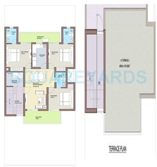 bptp park 81 independent floor ff 3bhk 1877sqft 1
