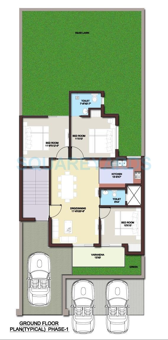bptp park elite floors independent floor gf 3bhk 1022sqft 1