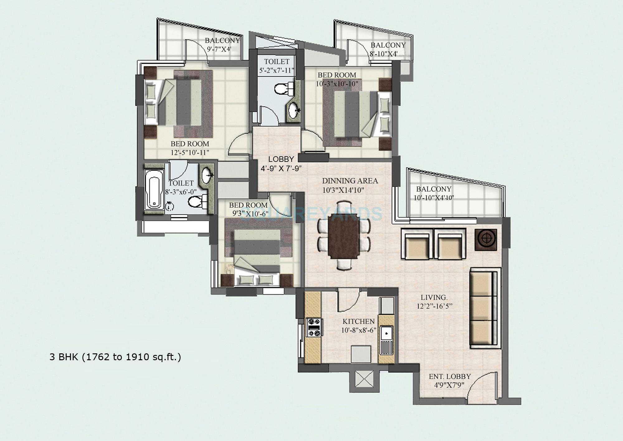 bptp park princess apartment 3bhk 1762sqft 1
