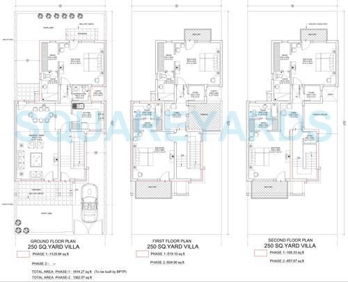 bptp parklands villa villa 2bhk 1815sqft 1
