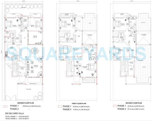 bptp parklands villa villa 3bhk 2580sqft 1