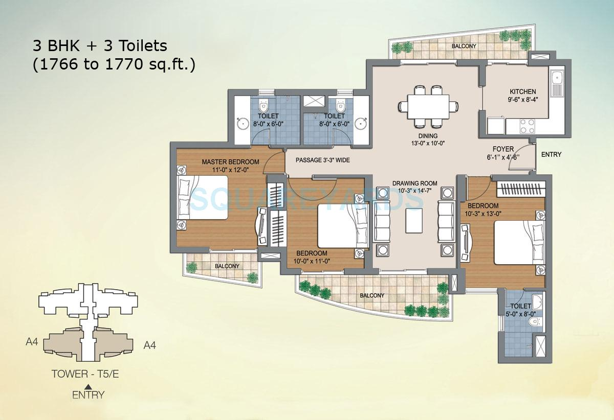 bptp the resort apartment 3bhk 1766sqft 1